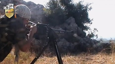 Liwa al-Islam video showing rebel fighter firing machine-gun (11 August 2013)