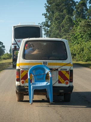 Matatu with chair
