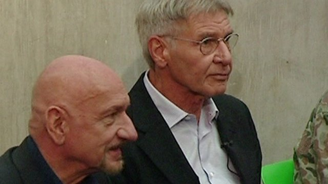 Sir Ben Kingsley and Harrison Ford
