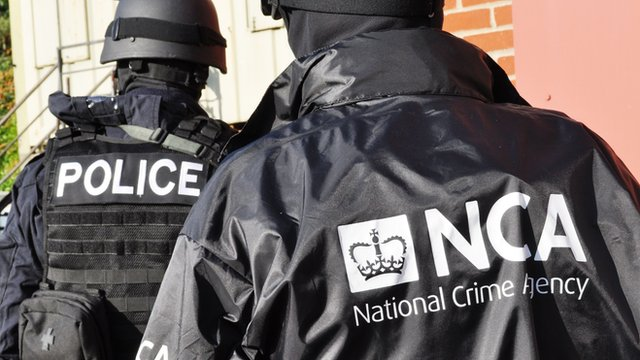 Officers of the newly formed National Crime Agency during a training exercise