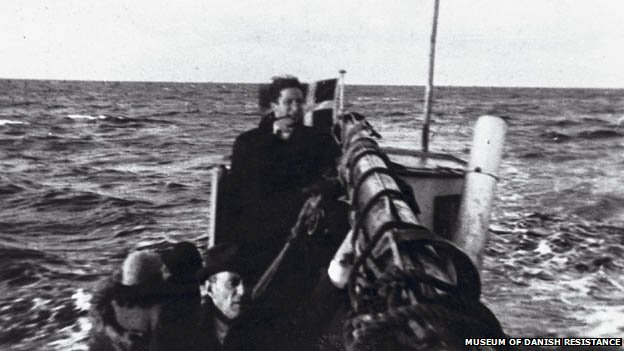 Danish Jews in a fishing boat on their way to Ystad in Sweden, October 1943