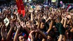 Protesters chant in support of ousted President Morsi