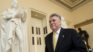Congressman Peter King on Capitol Hill on 30 September 2013