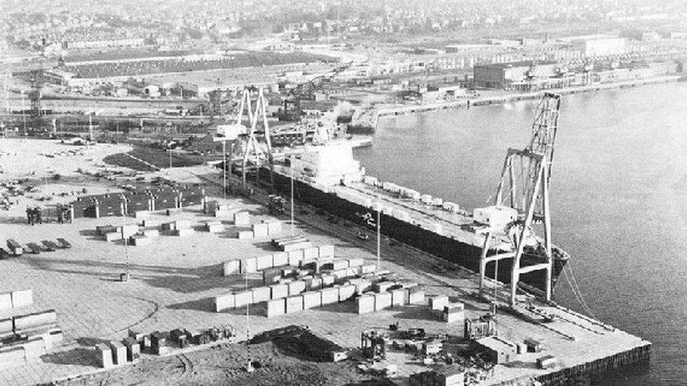 In Pictures Southampton Port Marks 175th Year Bbc News