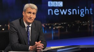 Jeremy Paxman at Newsnight desk