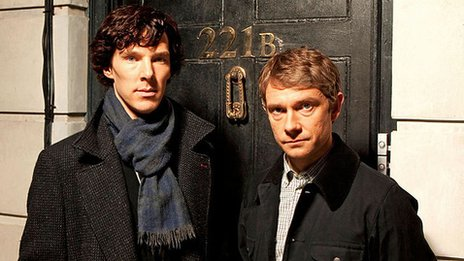 Benedict Cumberbatch [L] and Martin Freeman