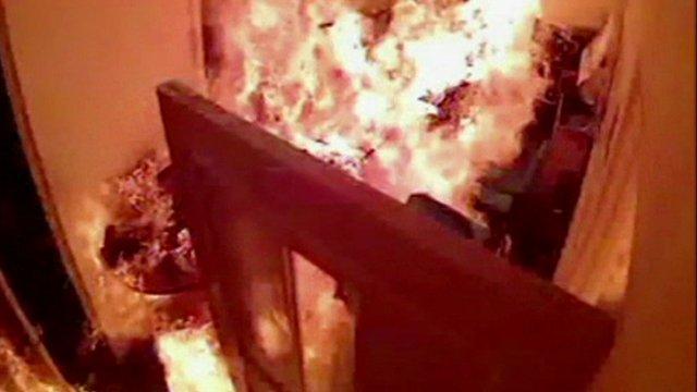 Maldives TV station set on fire