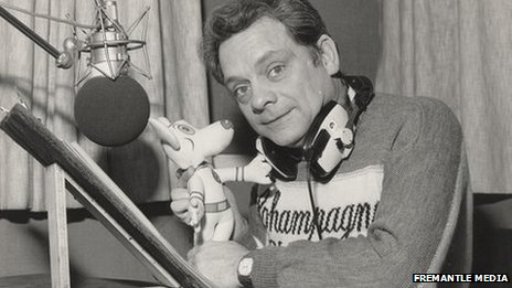 David Jason in the radio studio