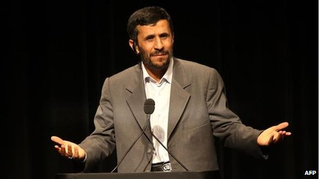 The former Iranian president, Mahmoud Ahmadinejad