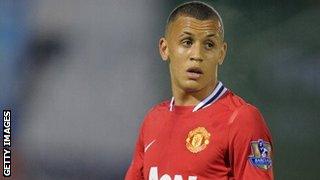 Ravel Morrison playing for Manchester United