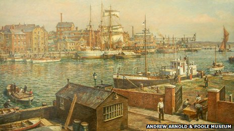 Poole Quay from the Shipwrights' Arms by Bernard Gribble