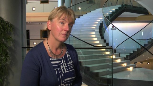 Linda McAvan MEP speaking to BBC in Strasbourg, 8 Oct 13