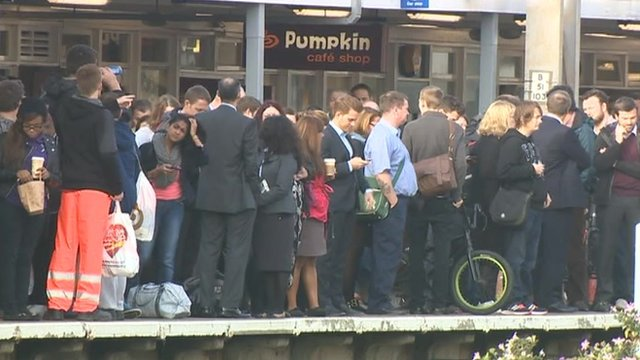 Greater Anglia passengers at Colchester