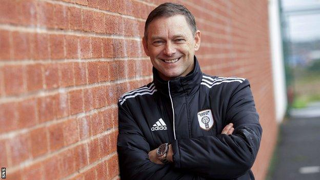 Glasgow City head coach Eddie Wolecki Black