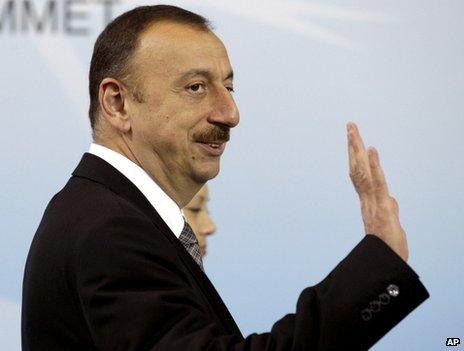 Azerbaijani President Ilham Aliyev (file image from 2012)
