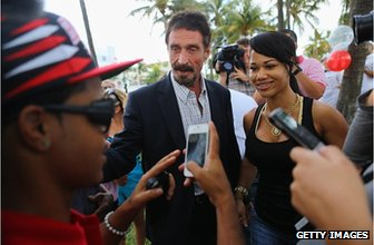 John McAfee at Miami Beach, Florida
