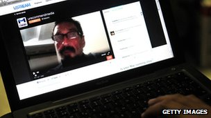 John McAfee, speaking live on the internet from the detention centre of the immigration department in Guatemala City