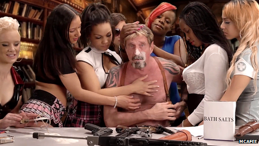 John McAfee video clip still