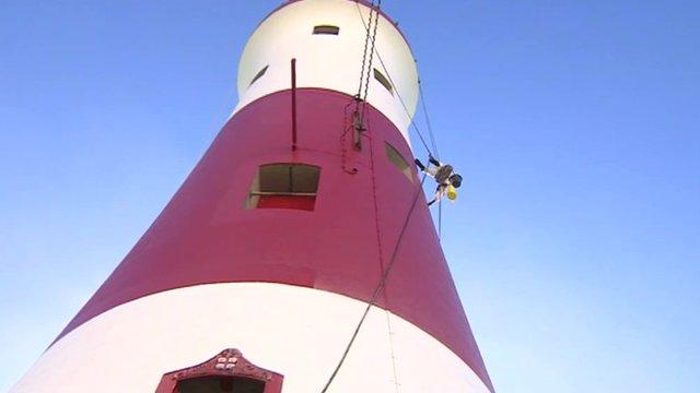 Repainting Beachy Head lighthouse