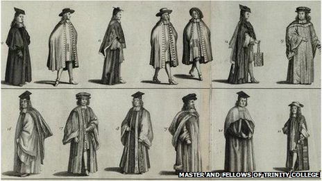 Scholars in academic dress