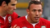 Craig Bellamy with Gareth Bale (left)