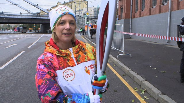Hazel Irvine is in Moscow to take part in the start of a record-breaking torch relay
