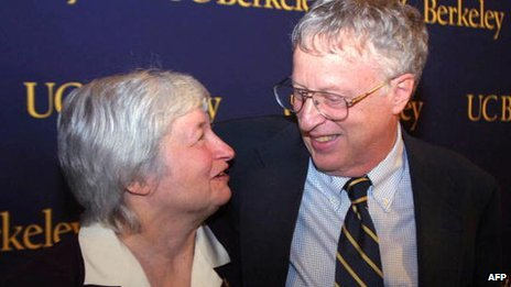Janet Yellen and George Akerlof in 2001