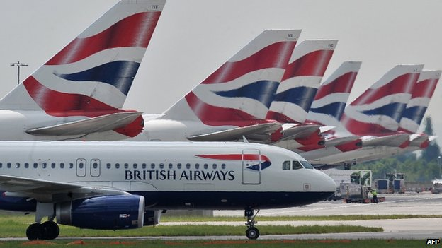 British Airways jets at Heathrow Terminal Five (file image)