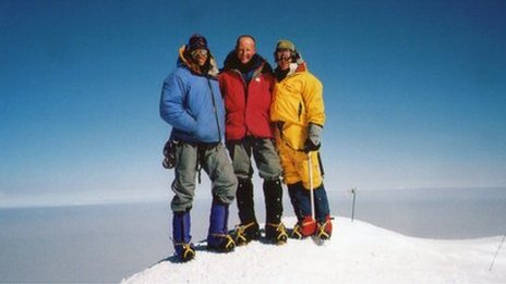 Mount McKinley summit, North America. July 2004