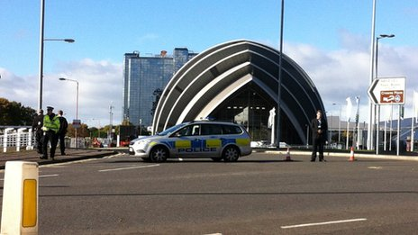Outside the SECC complex