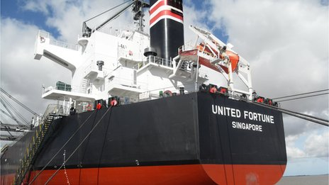 Ship the United Fortune in port