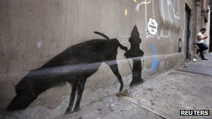 Banksy street art in New York