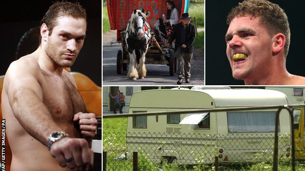 Tyson Fury, Gypsy caravan, Billy Joe Saunders and Irish traveller site