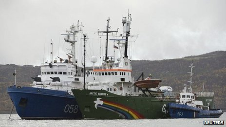 Greenpeace ship Arctic Sunrise in Russian custody