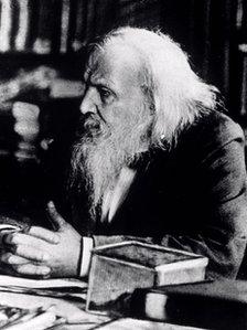 Photograph of Dmitri Mendeleev