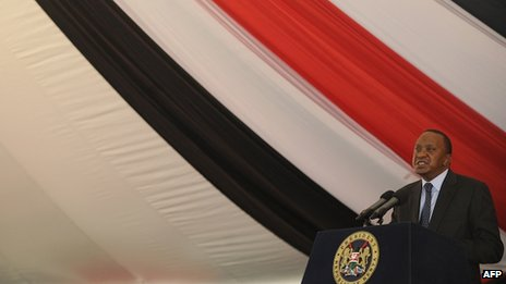 Kenya's President Uhuru Kenyatta in Nairobi (1 October)
