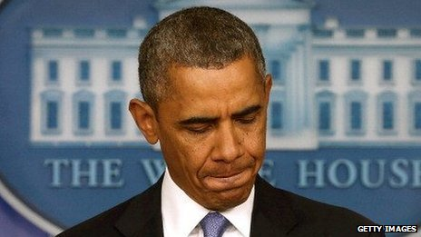 President Obama pauses for thought during a press conference on September 30.