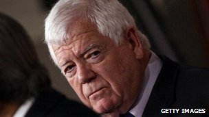 Representative Jim McDermott of Washington at a 2011 press conference.