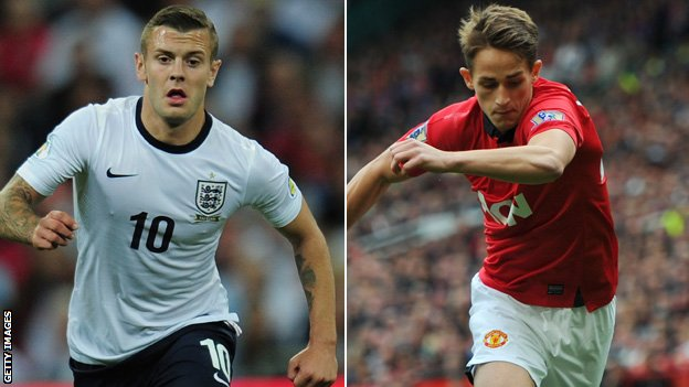 Jack Wilshere (left) and Adnan Januzaj