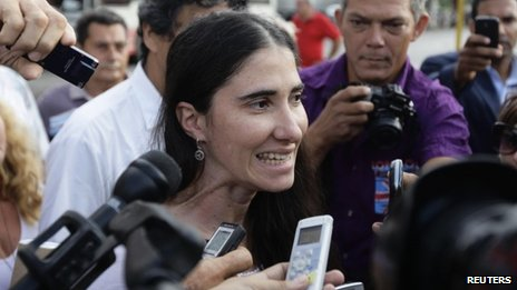 Cuban blogger Yoani Sanchez, Havana, 31 May 2011