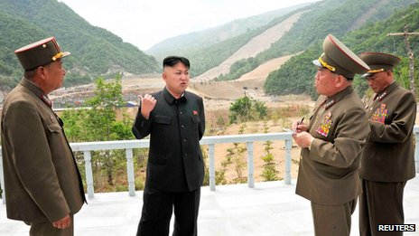 Kim Jong-un at the Masik ski resort site on 27 May 2013