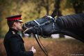 Sergeant Adrian Harlen with Thomas, one of the oldest horses in the Household Cavalry