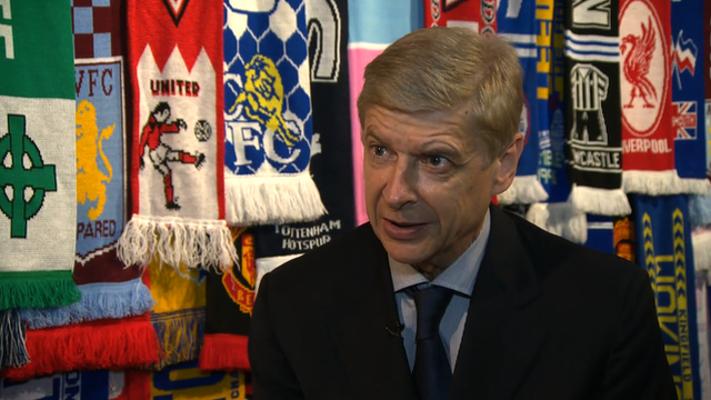 Arsene Wenger speaking at the Four Four Jew exhibition at the Jewish Museum in London.