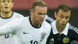Wayne Rooney in action for England against Scotland