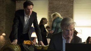 Dan Stevens and Benedict Cumberbatch in The Fifth Estate