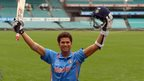A wax effigy of Sachin Tendulkar is unveiled in Sydney