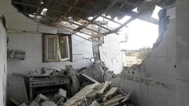 Destroyed home in Sinai
