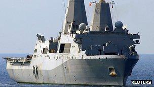 File photo of USS San Antonio