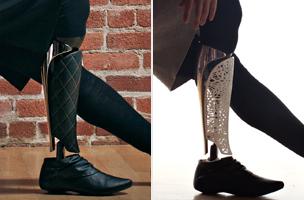 Deborah Bevilacqua's prosthetic legs