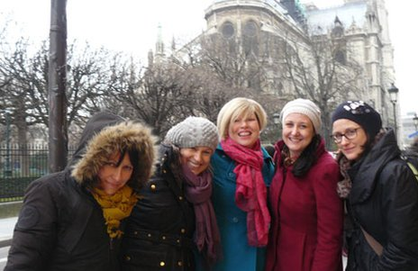 Helen in Paris with friends